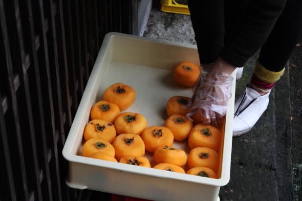 KOKAJIYAの柿干し